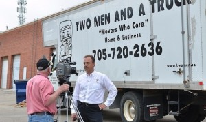 Two Men And A Truck Barrie Profiled on CTV News for Mikey On Board program