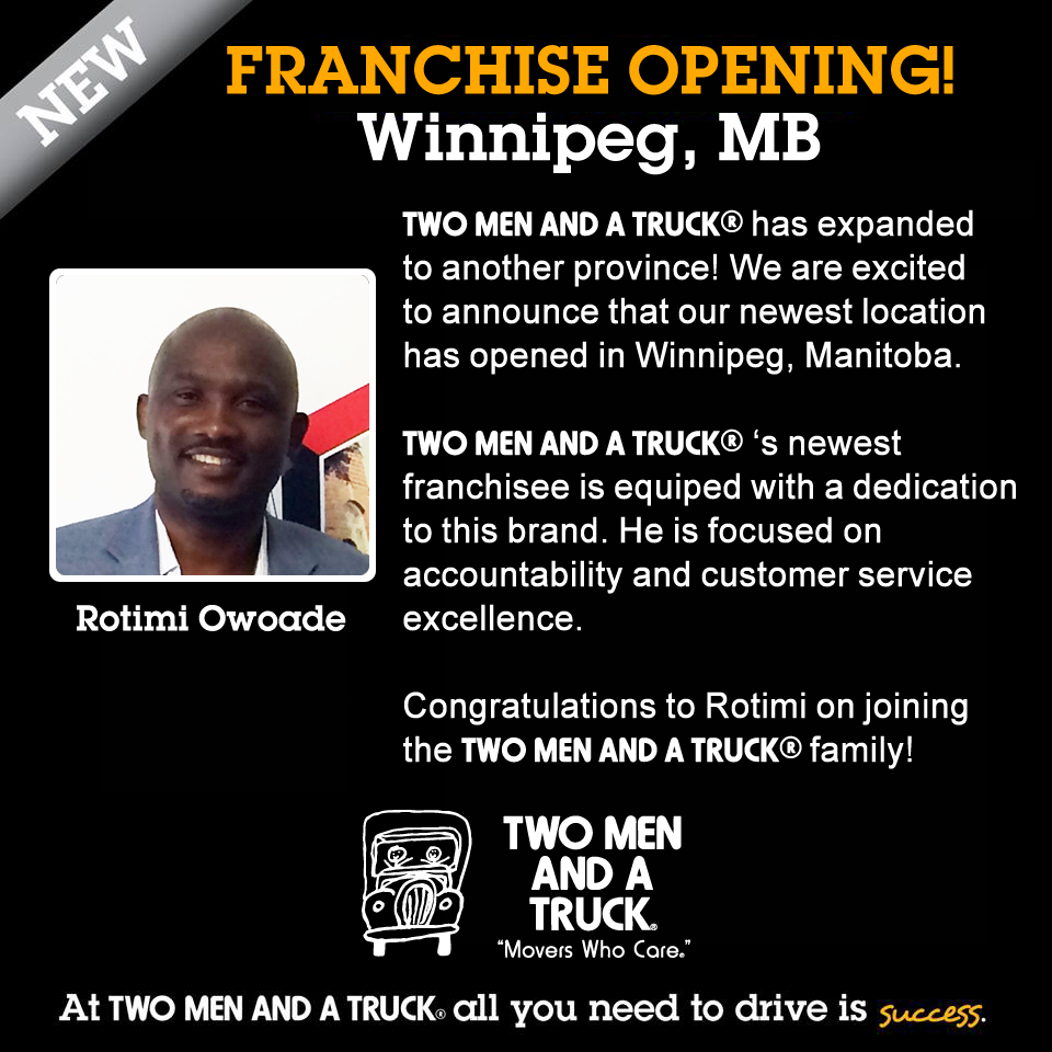 New movers in Winnipeg