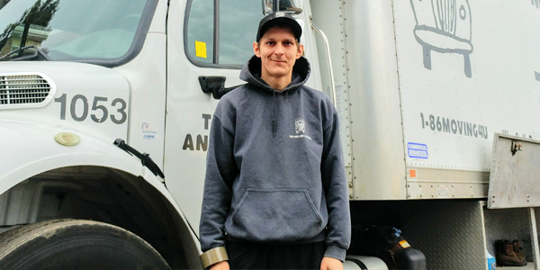 mover Devon from TWO MEN AND A TRUCK® Barrie