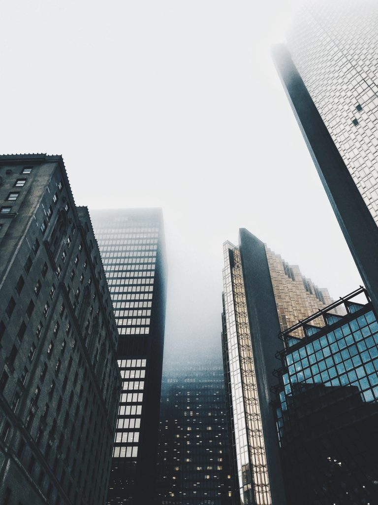 Gloomy day in Downtown Toronto