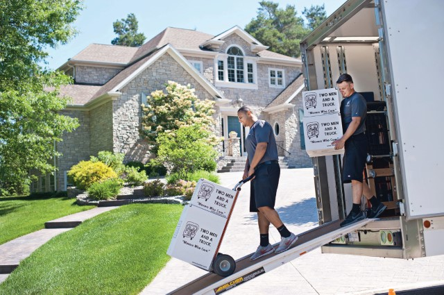 Local movers conducting a move